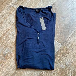 JCrew Navy Henley Sleep Shirt NWT size small